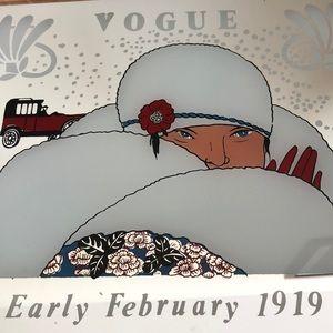 "Vogue Wall Art - Vintage Vogue Wall Mirror 16"" x 11.75"""